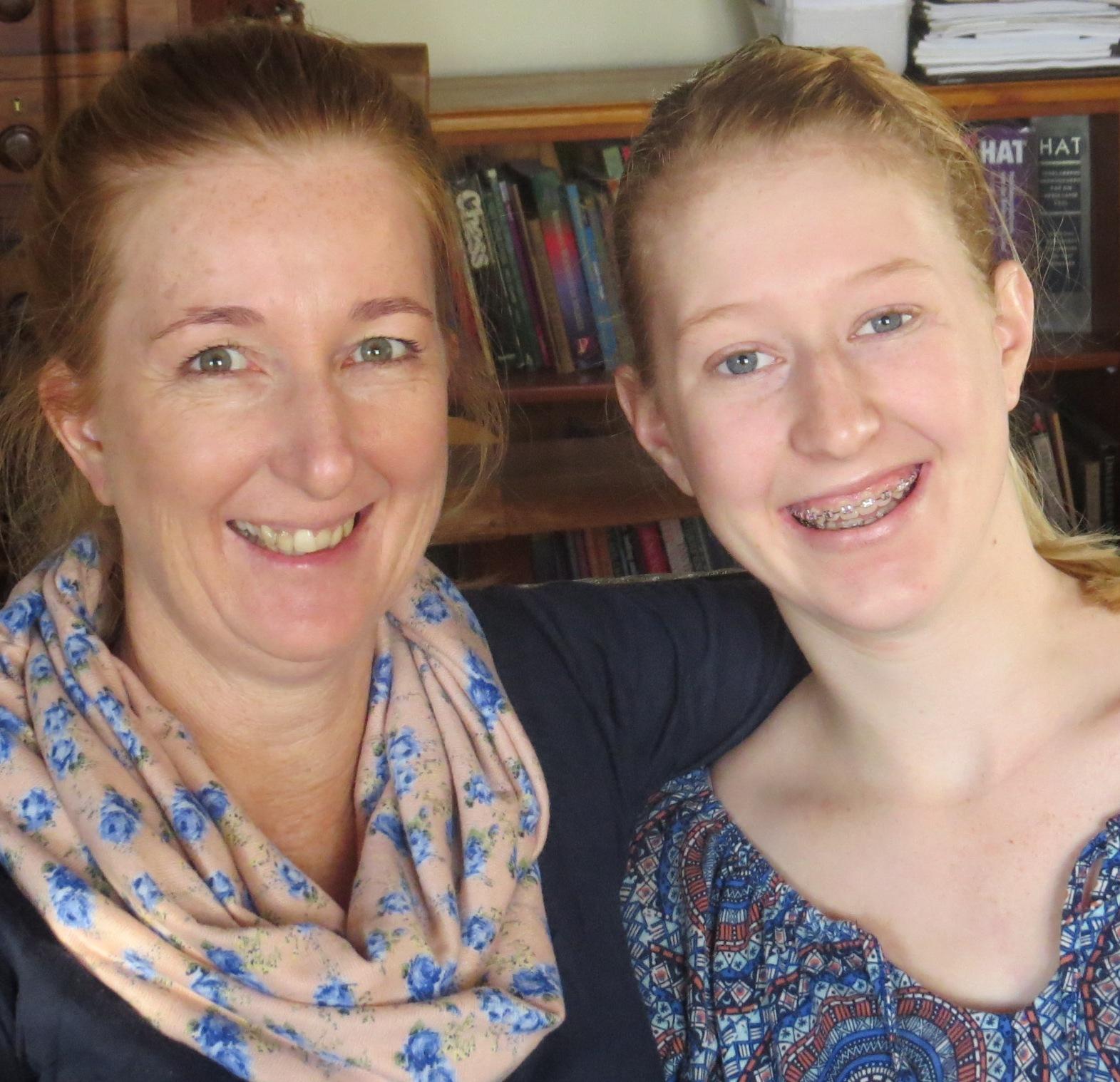 Jane Eksteen with her mom Friedel